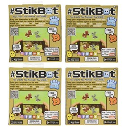 Zing StikBot Pets 4 Pack Assortment