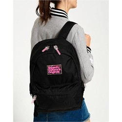 Superdry Pixie Dust Montana, Women's Backpack Handbag, Nero (Black), 30.0x45.0x13.0 cm (W x H L)