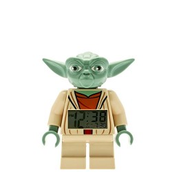 LEGO Star Wars Yoda Kids Minifigure Light Up Alarm Clock | green/brown | plastic | 7 inches tall | LCD display | boy girl | offi