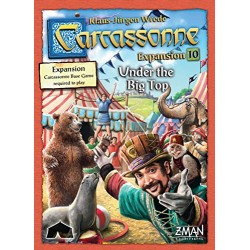 Z Man Games ZMG7820 Carcassonne Under The Big Top Expansion Board Game