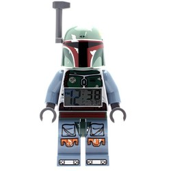 LEGO Star Wars Boba Fett Kids Minifigure Light Up Alarm Clock | green/blue | plastic | 9.5 inches tall | LCD display | boy girl