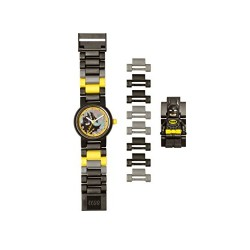 DC Comics Lego Batman Movie Batman Kids Minifigure Link Buildable Watch | Black/Yellow | Plastic | 28Mm Case Diameter| Analogue