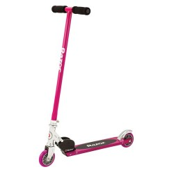 Razor S Sports Kids' Kick Scooter Pink, aluminium steel frame, 1 speed abec 5 bearings patented rear fender brake