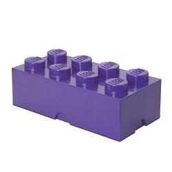 LEGO Friends Storage Brick 8 Knobs, Stackable Storage Box, 12 l, Purple