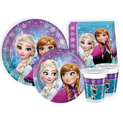 Ciao Y2499 Disney Frozen Party Tableware for 24 People (112 Pieces