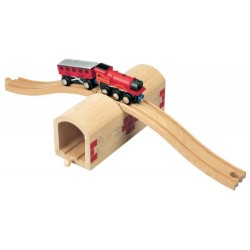 Toys For Play Wooden Railway over and under Tunnel
