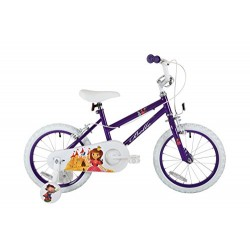 Sonic Belle Girls' Kids Bike Purple 1 speed colour cordinated spoked wheels fully enclosed chainguard and easy reach brakes