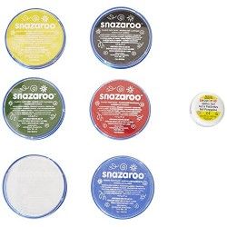 Snazaroo Face and Body Paint Mini Starter Kit, 14 Pieces