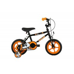Sonic Scamp Kids' Kids Bike Black 1 speed mag style wheels fully enclosed chainguard and easy reach brakes