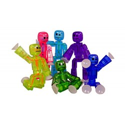 StikBot Figure (Pack of 6, Colours May Vary)
