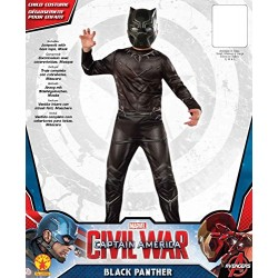 Black Panther Costume, Kids Civil War Outfit, Medium, Age 5